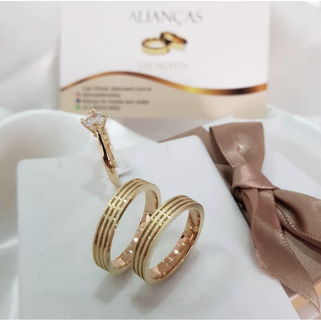 4mm frisos diamantados + anel